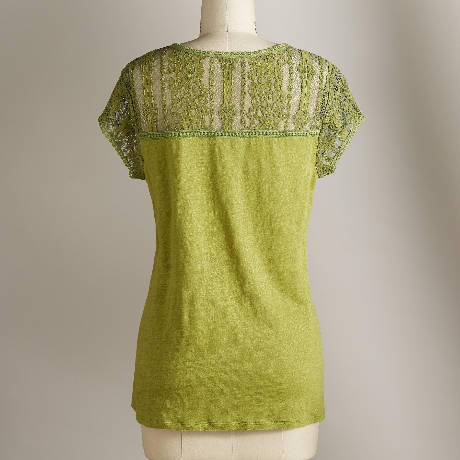 ADORIA LACE TEE: View 3