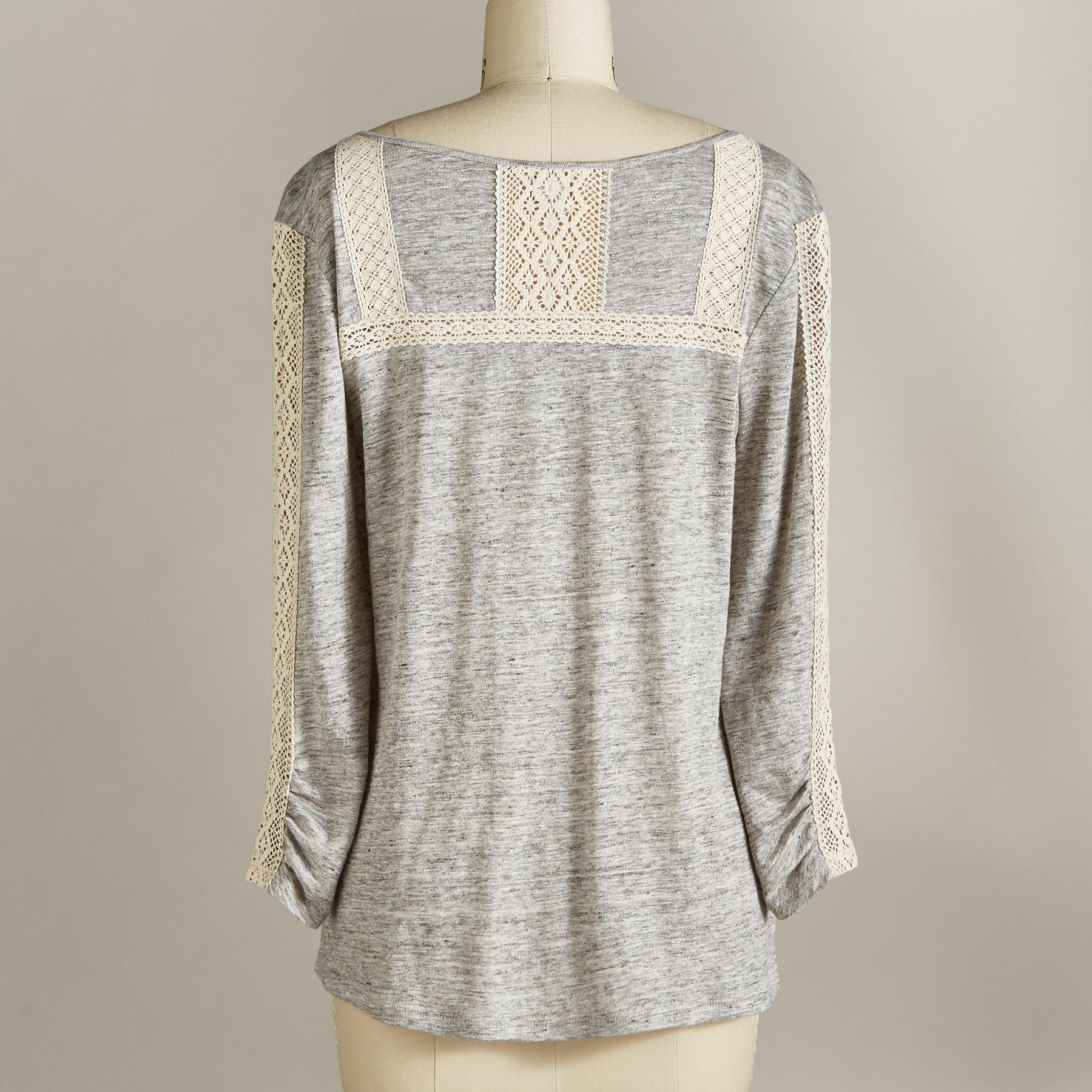 JUSTINE LACE TEE PETITE: View 3