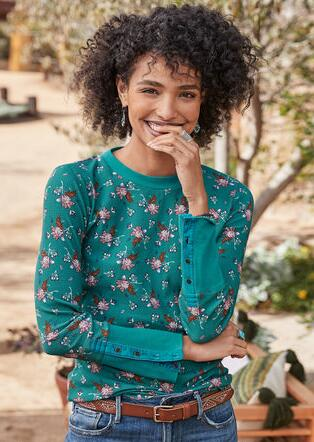 FLORAL WHIMSY THERMAL TEE