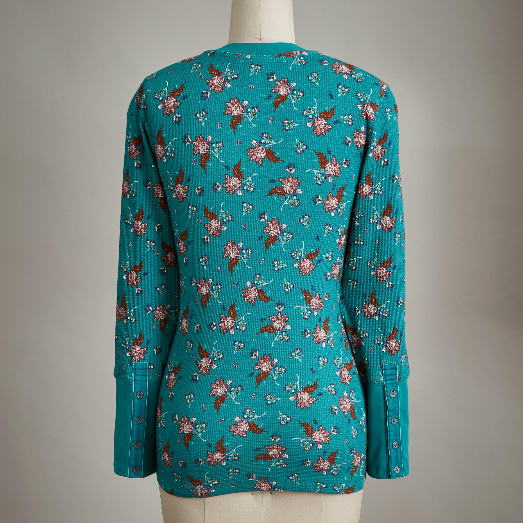 FLORAL WHIMSY THERMAL TEE: View 2