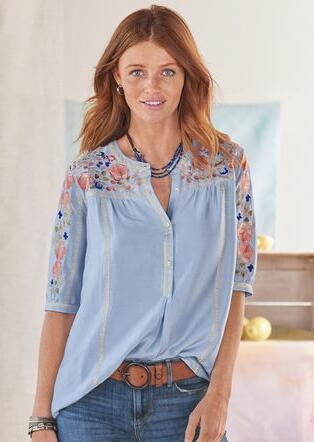 8b07354c7c7042 Women's Tops - Shirts & Blouses | Robert Redford's Sundance Catalog