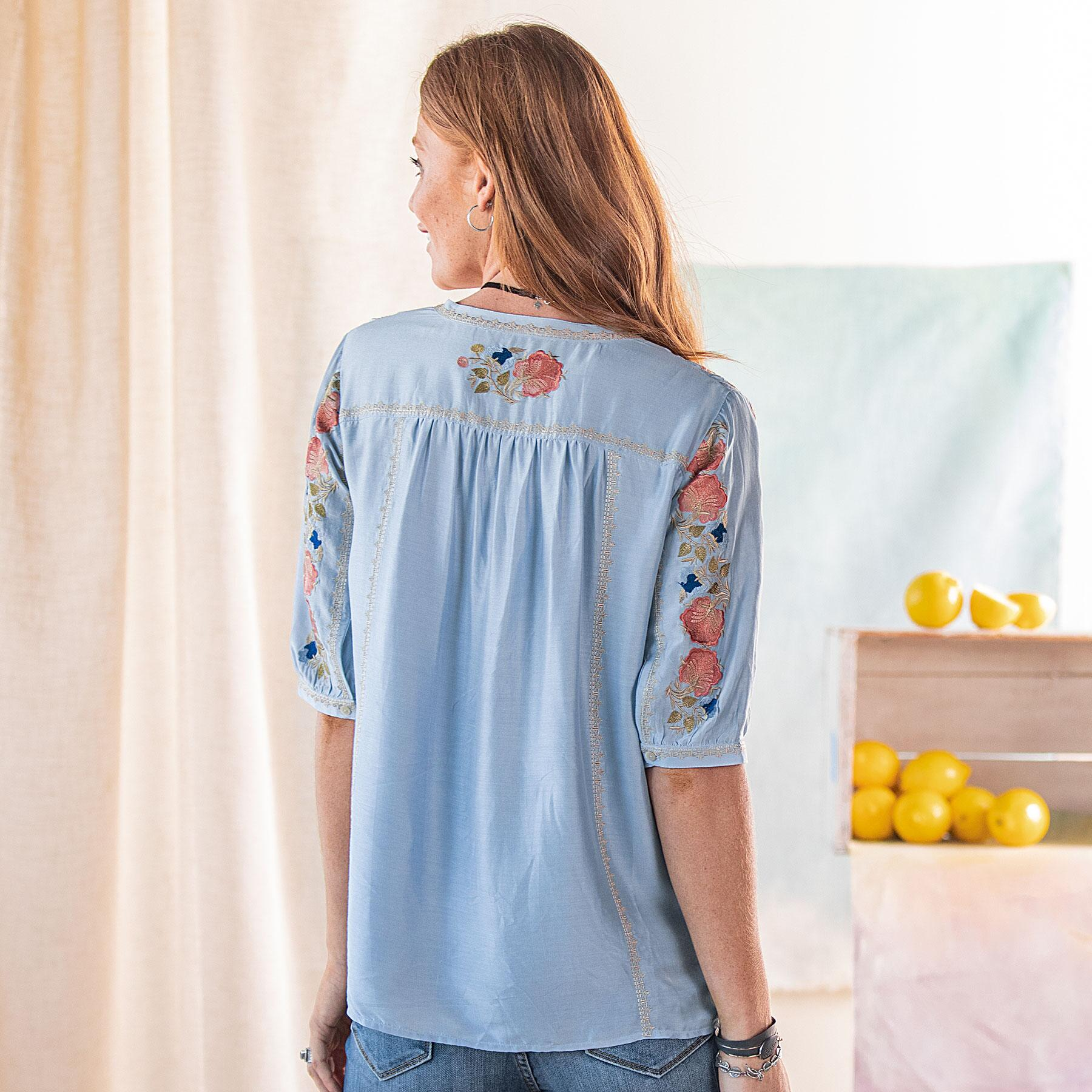 GISELA EMBROIDERED TOP: View 2