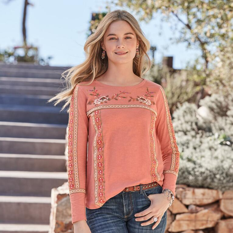JULIA EMBROIDERED TOP