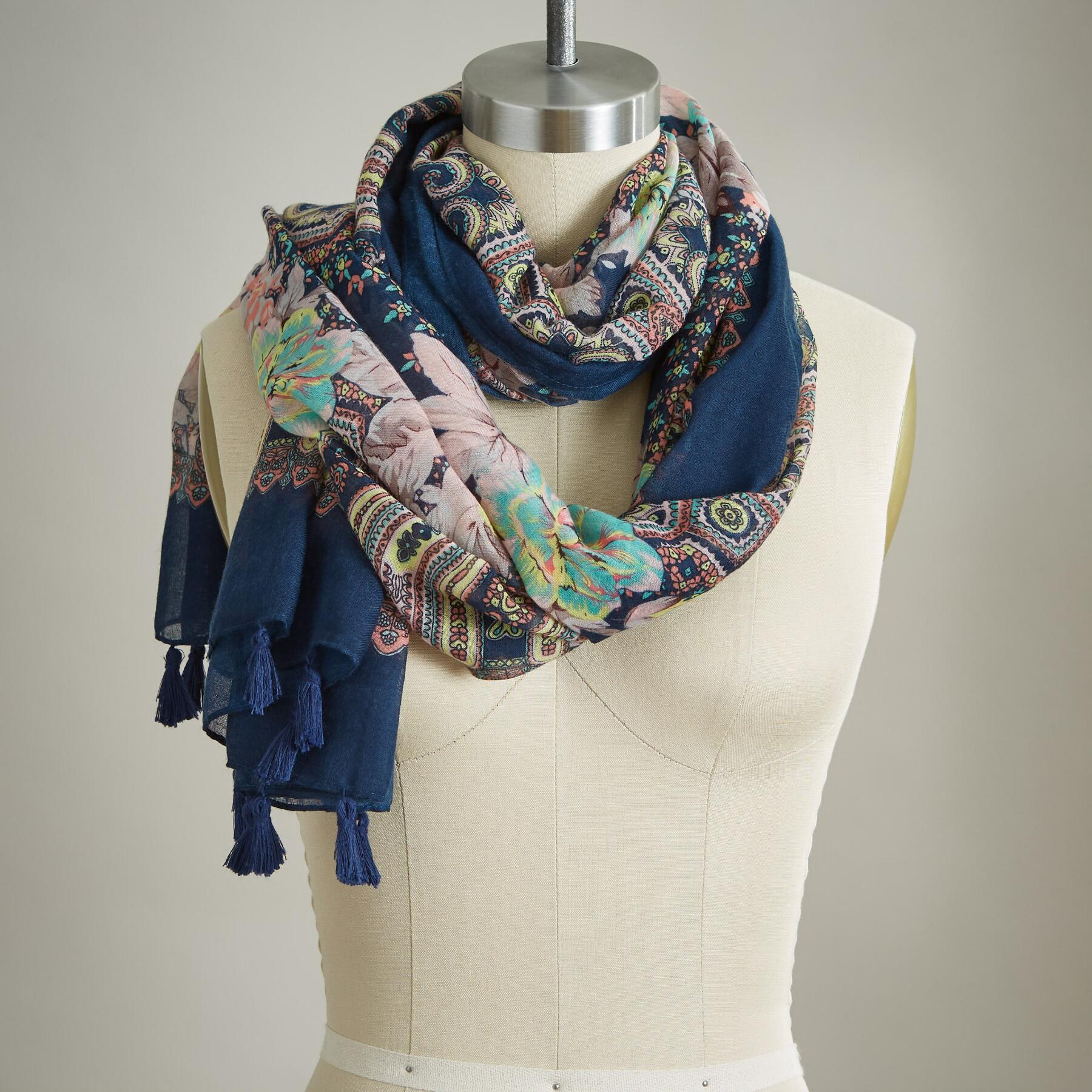 FLORAL IMPRESSIONS SCARF: View 1
