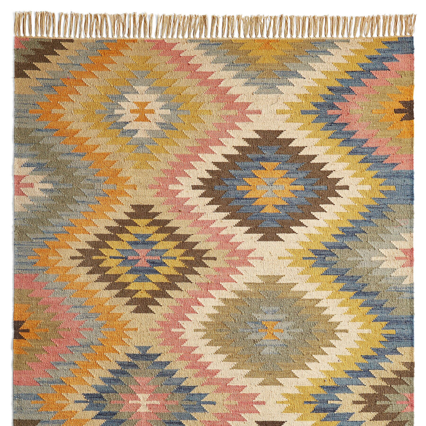 SUNLIT DIAMONDS KILIM RUG: View 1