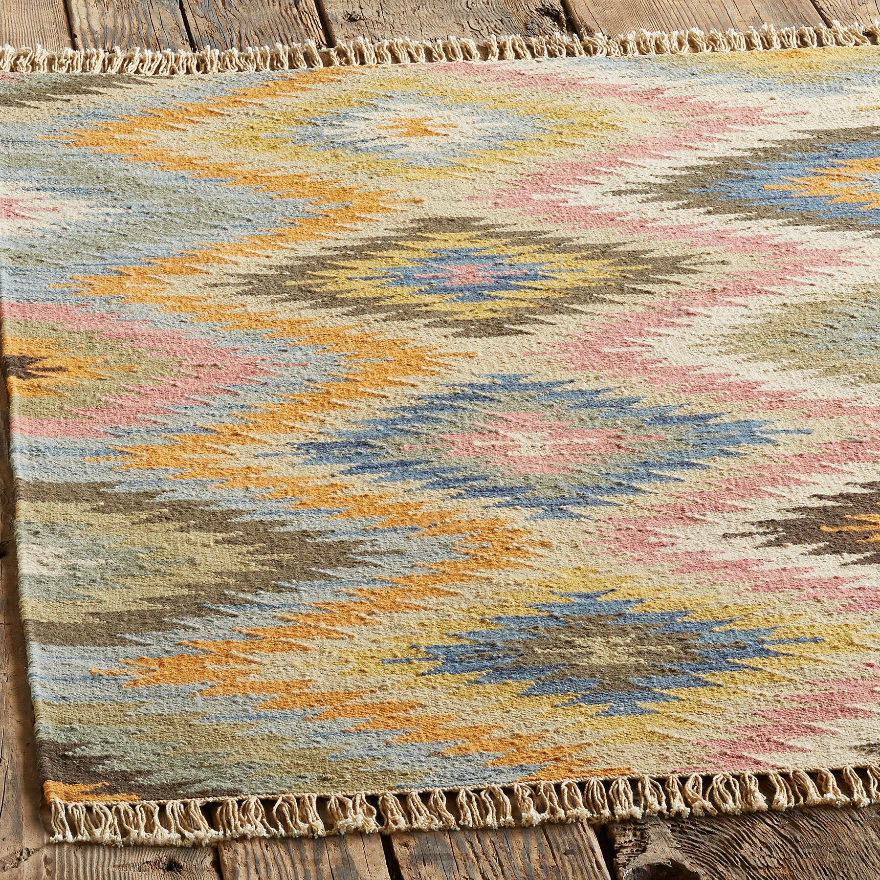 SUNLIT DIAMONDS KILIM RUG, LARGE: View 2