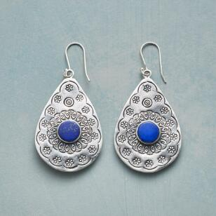 FLEUR DE LAPIS EARRINGS