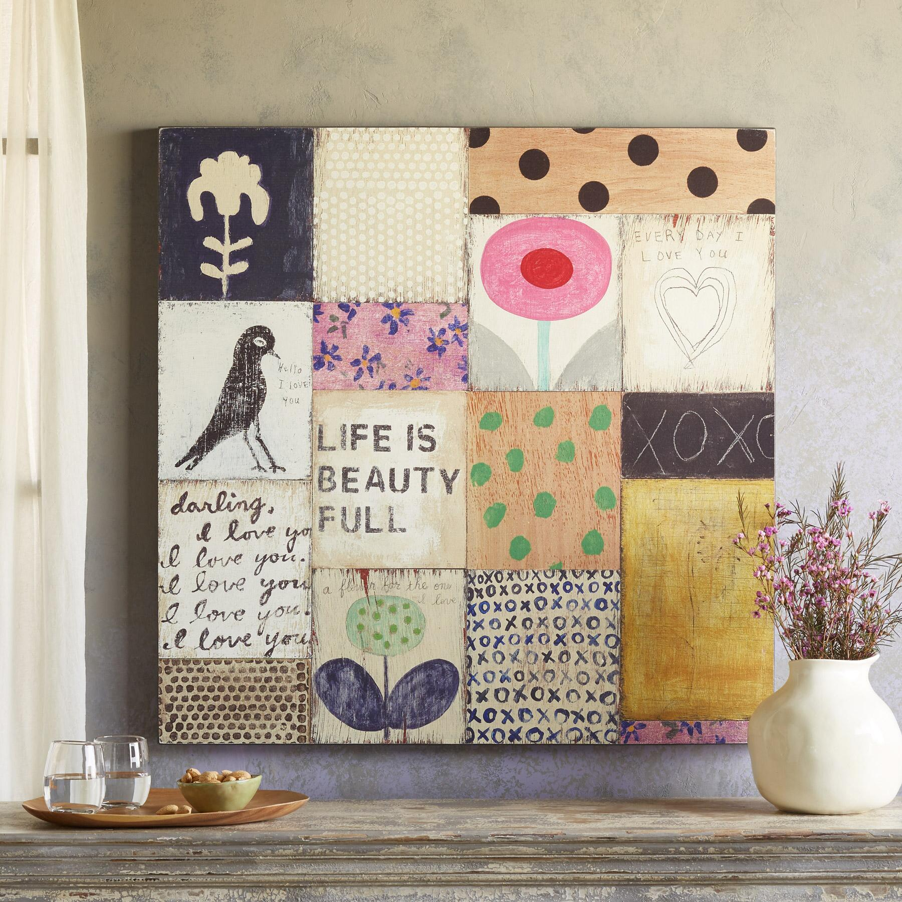 Patchwork Art Print Collage - Sundance Catalog Home Decor + A Few of My Artisan Favorite Things!