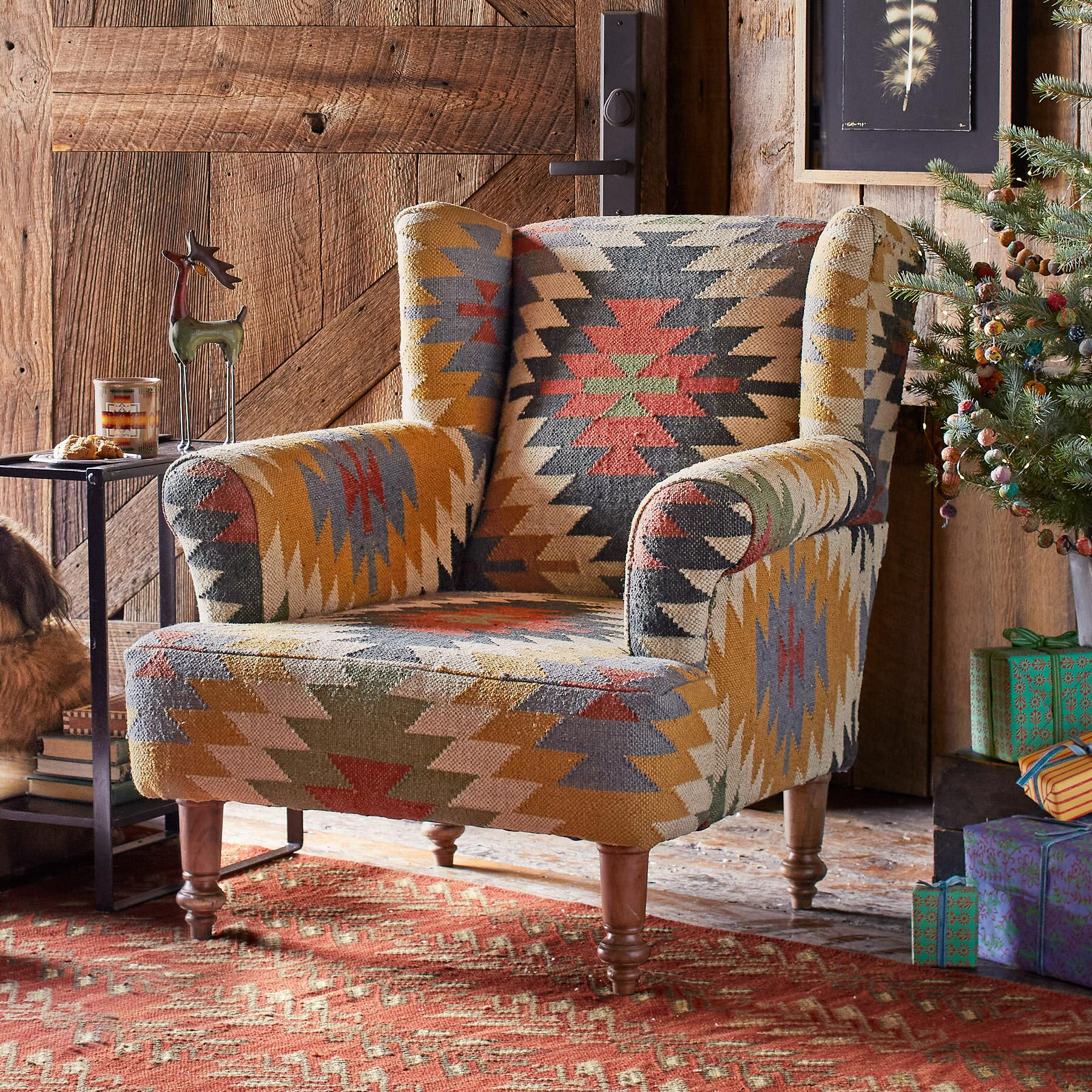 Surprising Mesa Kilim Club Chair Robert Redfords Sundance Catalog Beutiful Home Inspiration Xortanetmahrainfo