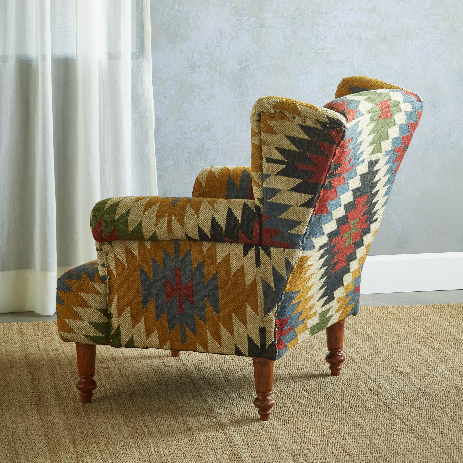 Terrific Mesa Kilim Club Chair Robert Redfords Sundance Catalog Beutiful Home Inspiration Xortanetmahrainfo