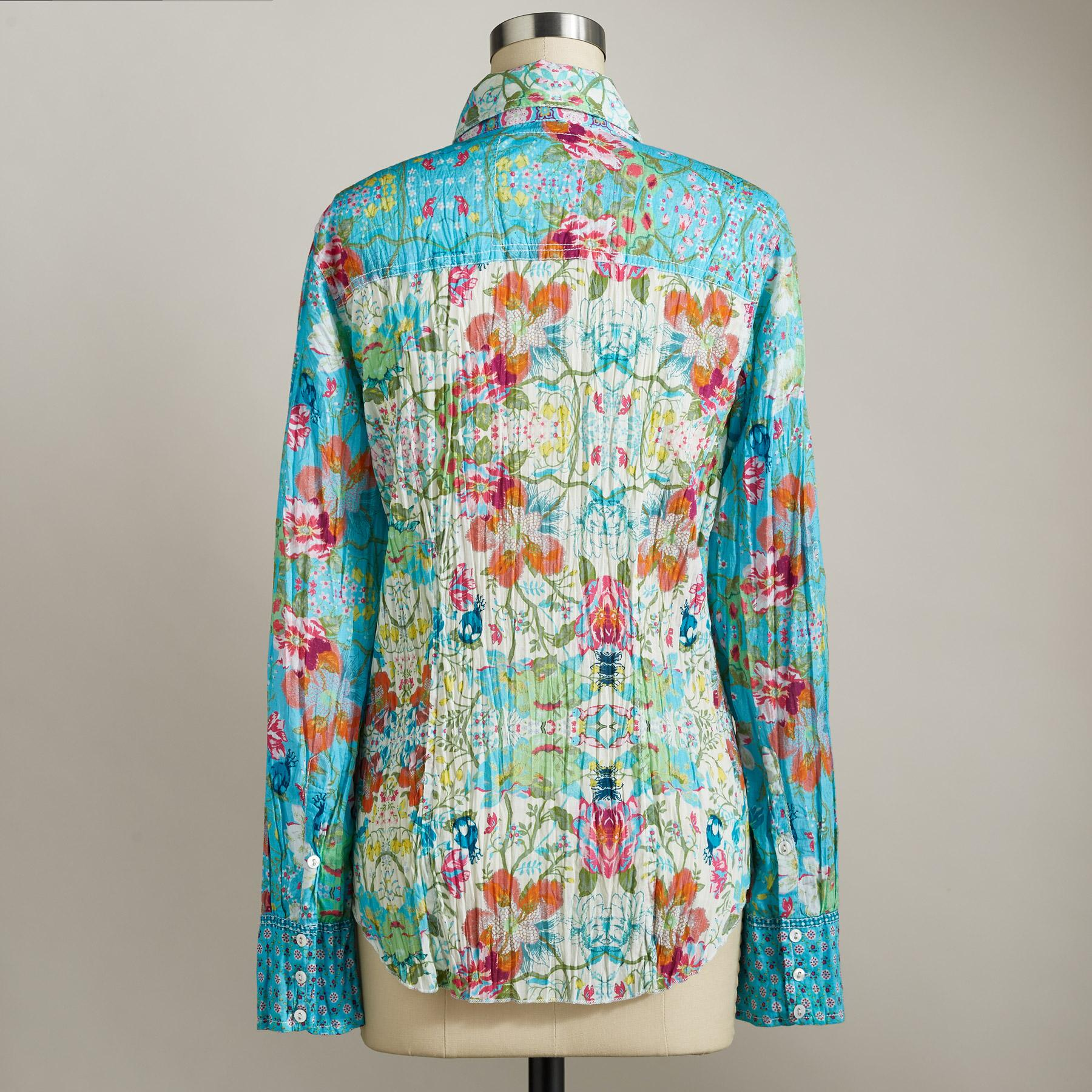 VINTAGE SUMMER FLORAL SHIRT: View 2