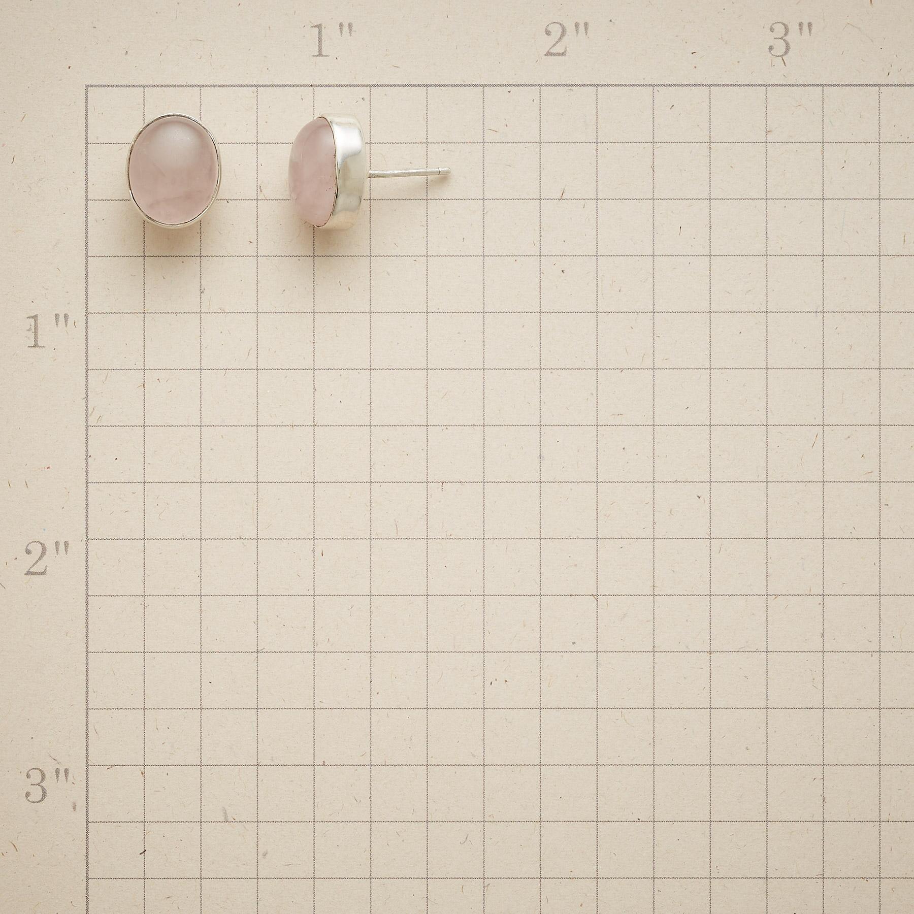 PINK CRYSANTHEMUM EARRINGS: View 2
