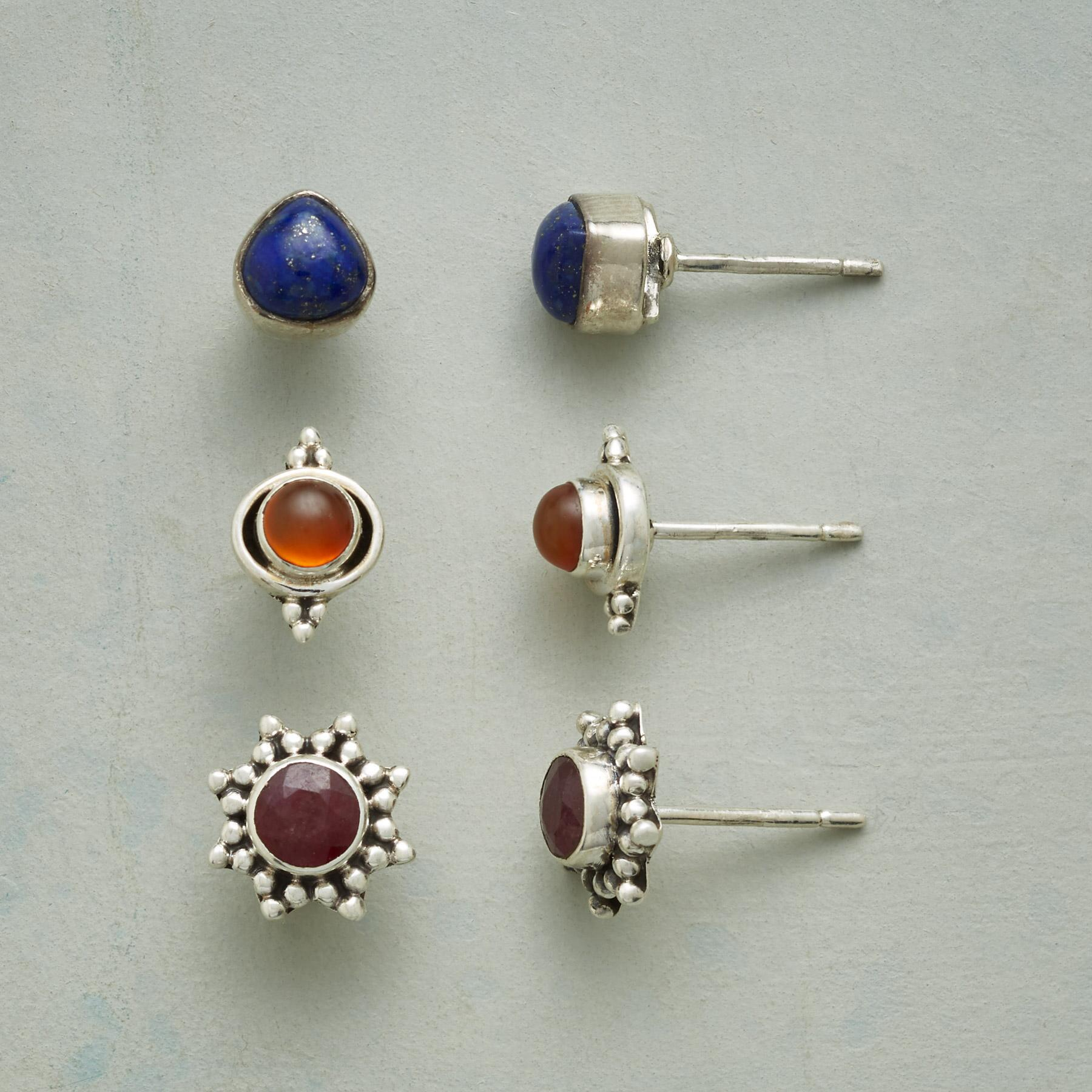 EARTH, FIRE & WATER EARRING TRIO: View 1
