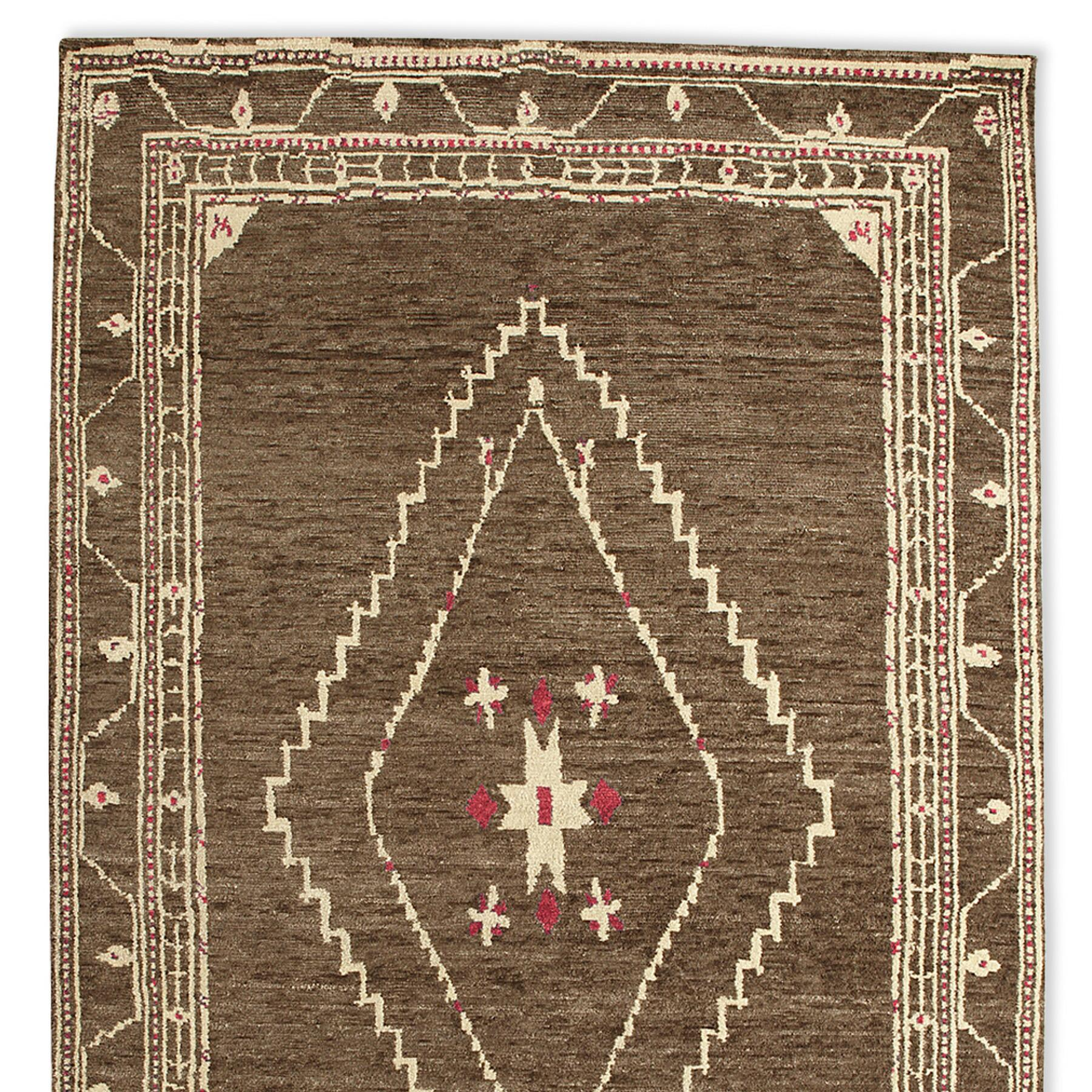 LURIA TIBETAN HAND KNOTTED RUG, LARGE: View 1