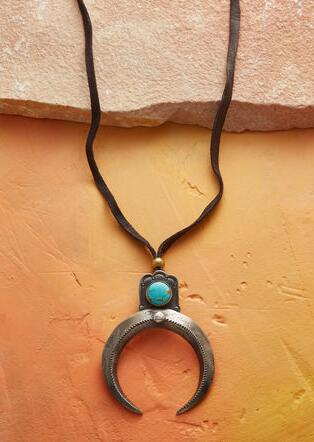 KINGMAN TURQUOISE NAJA NECKLACE