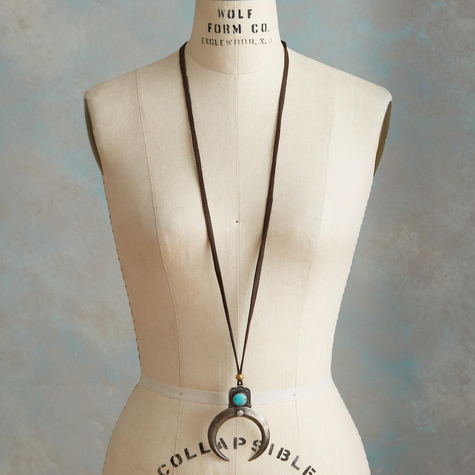 KINGMAN TURQUOISE NAJA NECKLACE: View 4