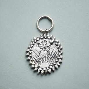 SILVER MOTHER GODDESS CHARM