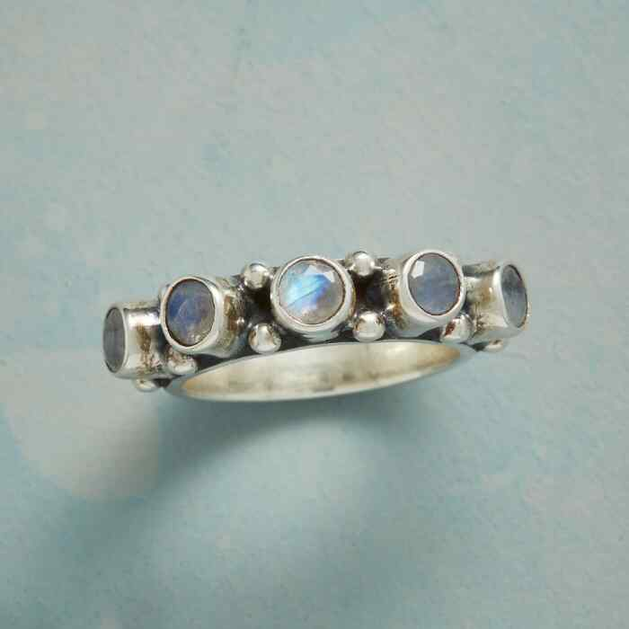 MOONSTONE HORIZON RING