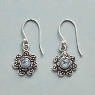 BUDDING BLUE TOPAZ EARRINGS