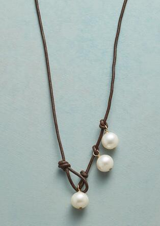 PEARL TRINITY LARIAT NECKLACE