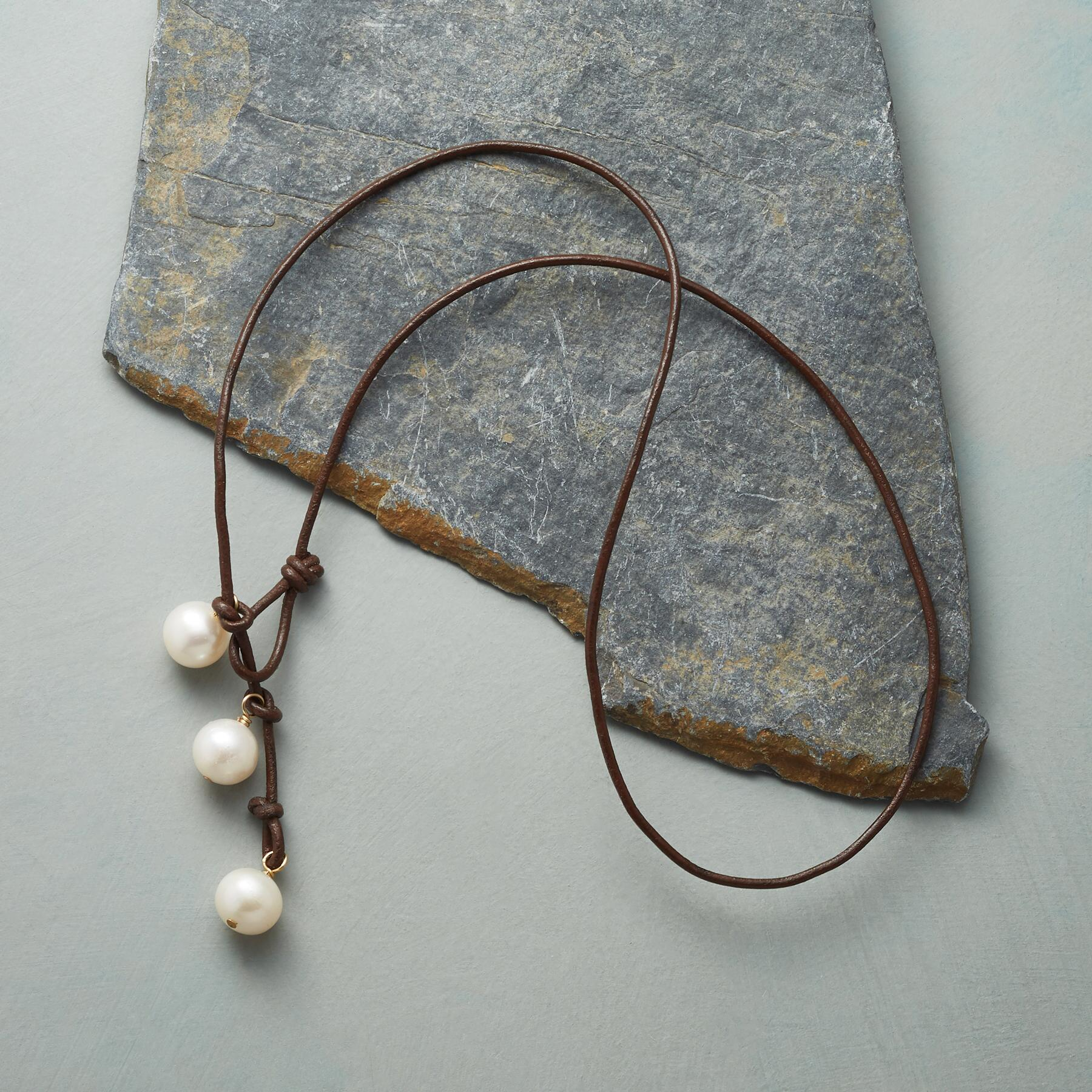 PEARL TRINITY LARIAT NECKLACE: View 2