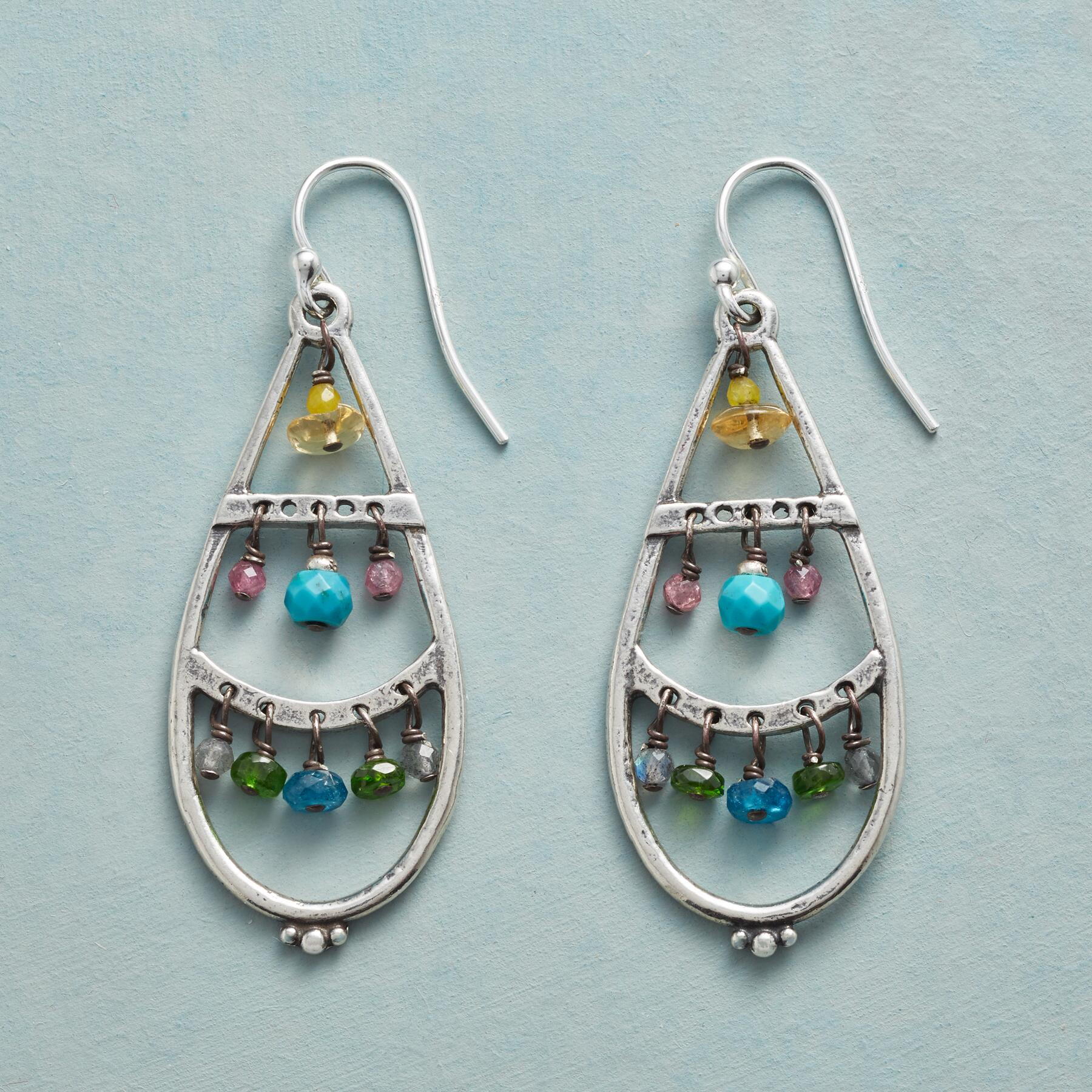 CLOISONNE EARRINGS: View 1