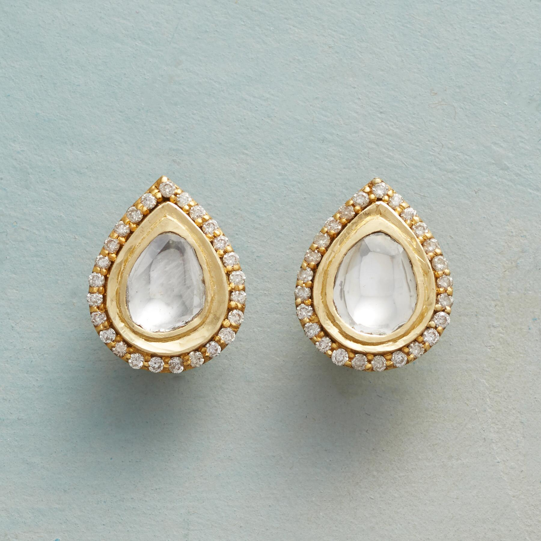 DIAMOND RAINDROPS EARRINGS: View 1