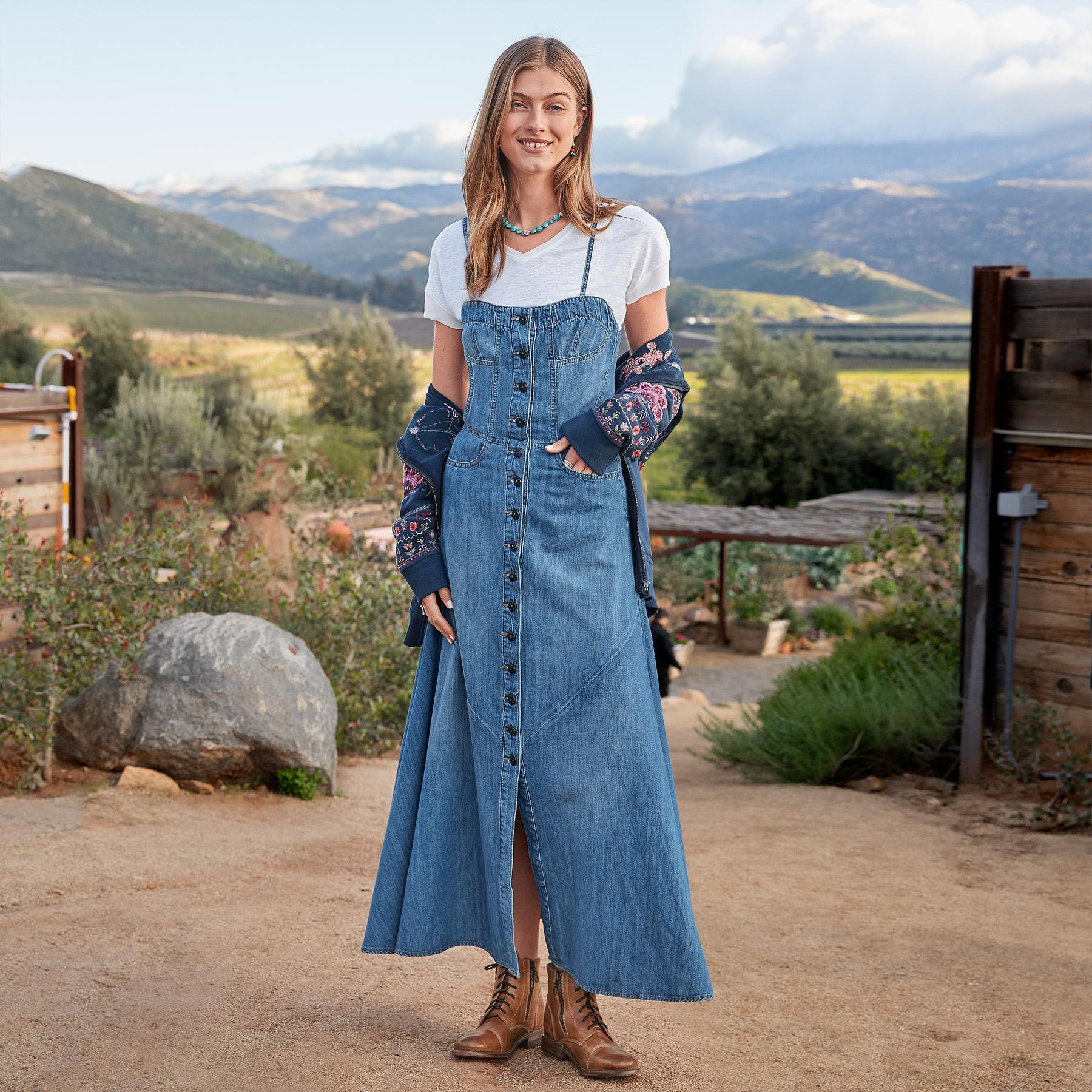 MARINA DENIM DRESS: View 1