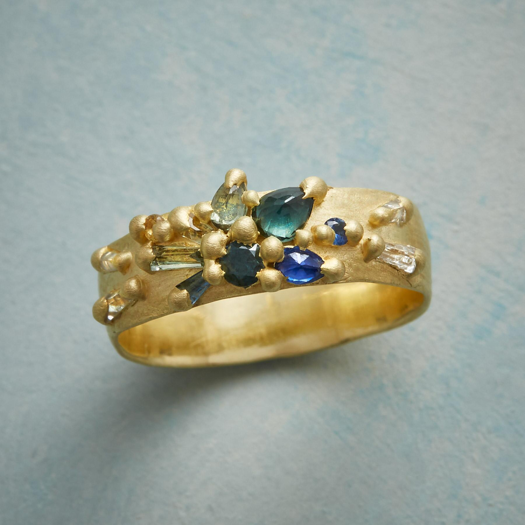 SAPPHIRE BLOSSOM RING: View 1