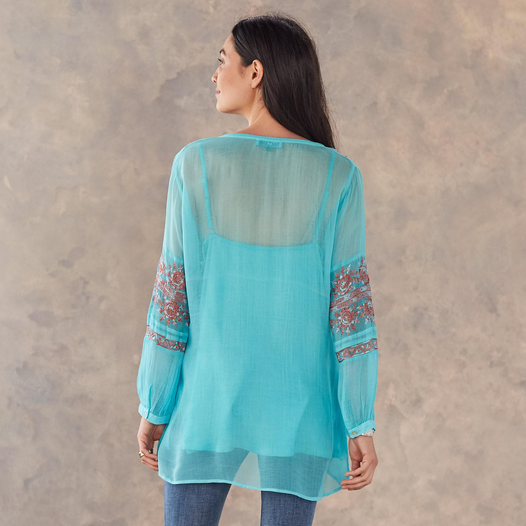 AZURE TIDES TUNIC: View 2