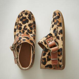 LEATHER LEOPARD RING BOOTS