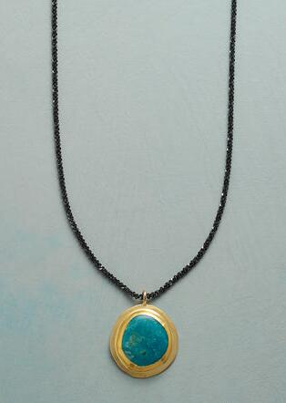 TURQUOISE PLANET NECKLACE