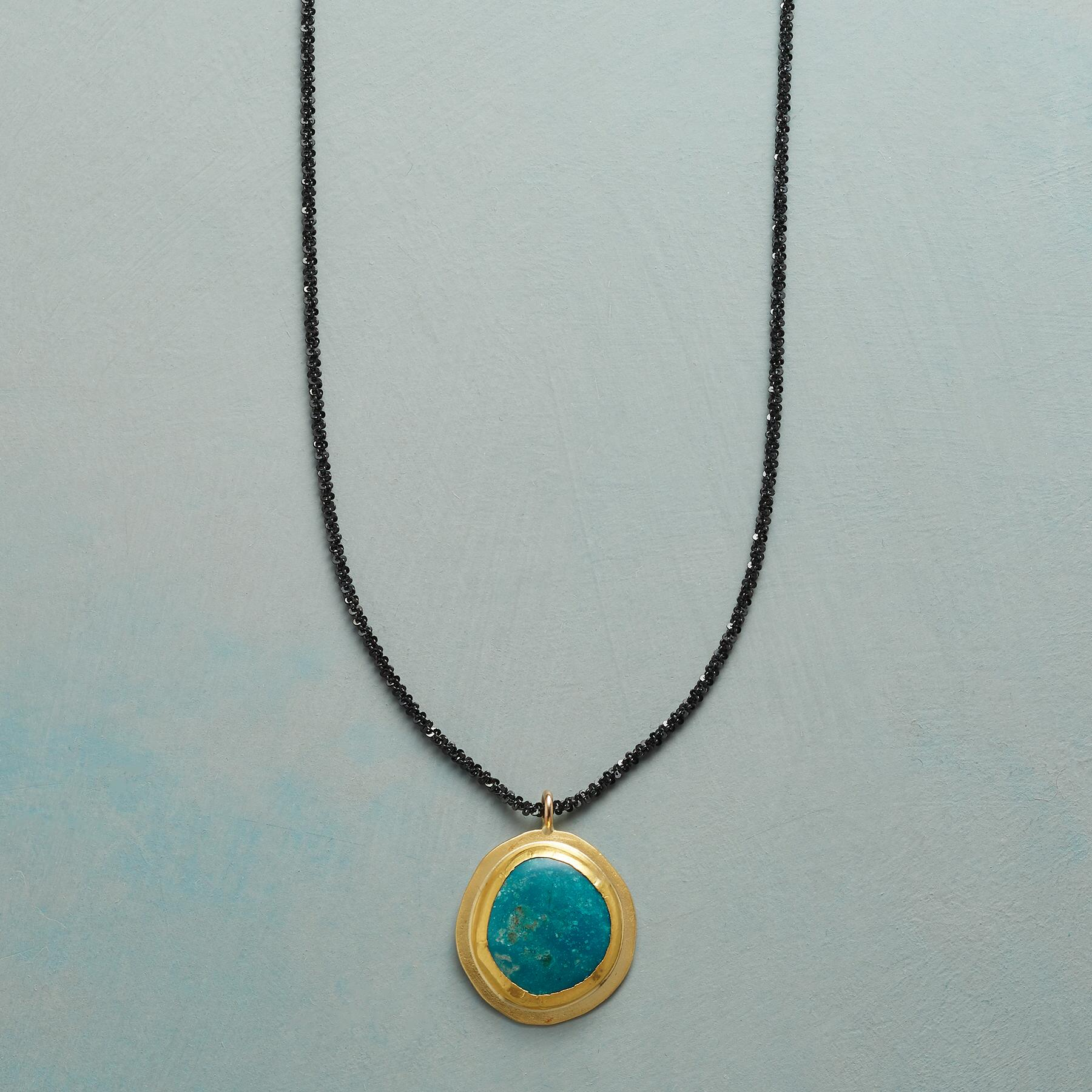 TURQUOISE PLANET NECKLACE: View 1