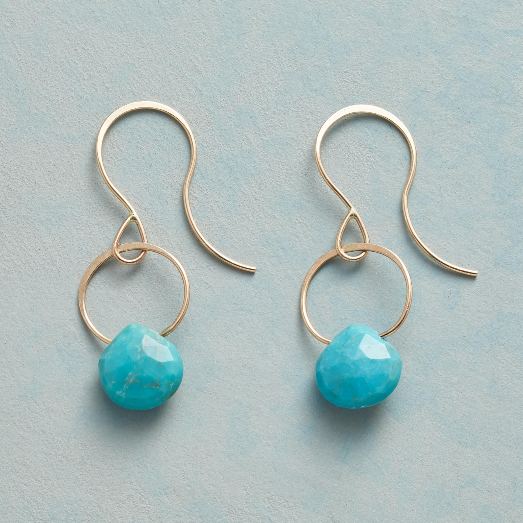 TURQUOISE SONG EARRINGS: View 1