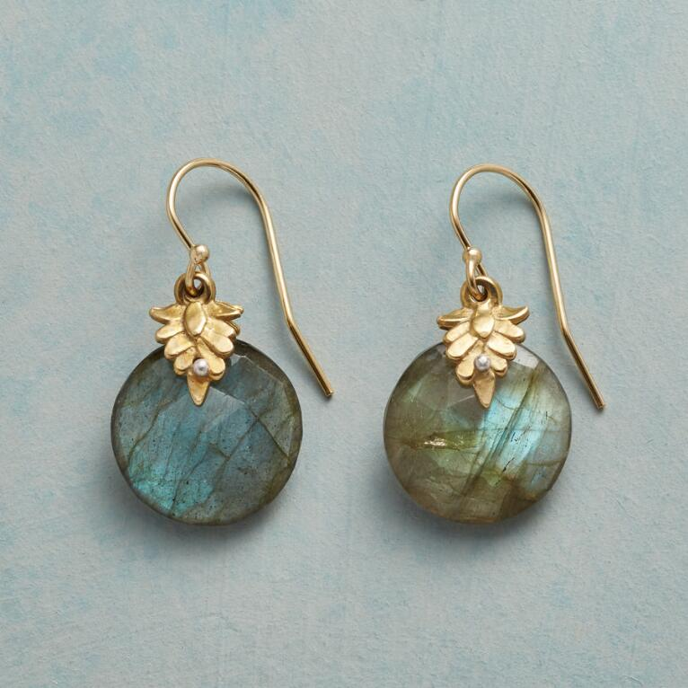 LEAFY LABRADORITE EARRINGS