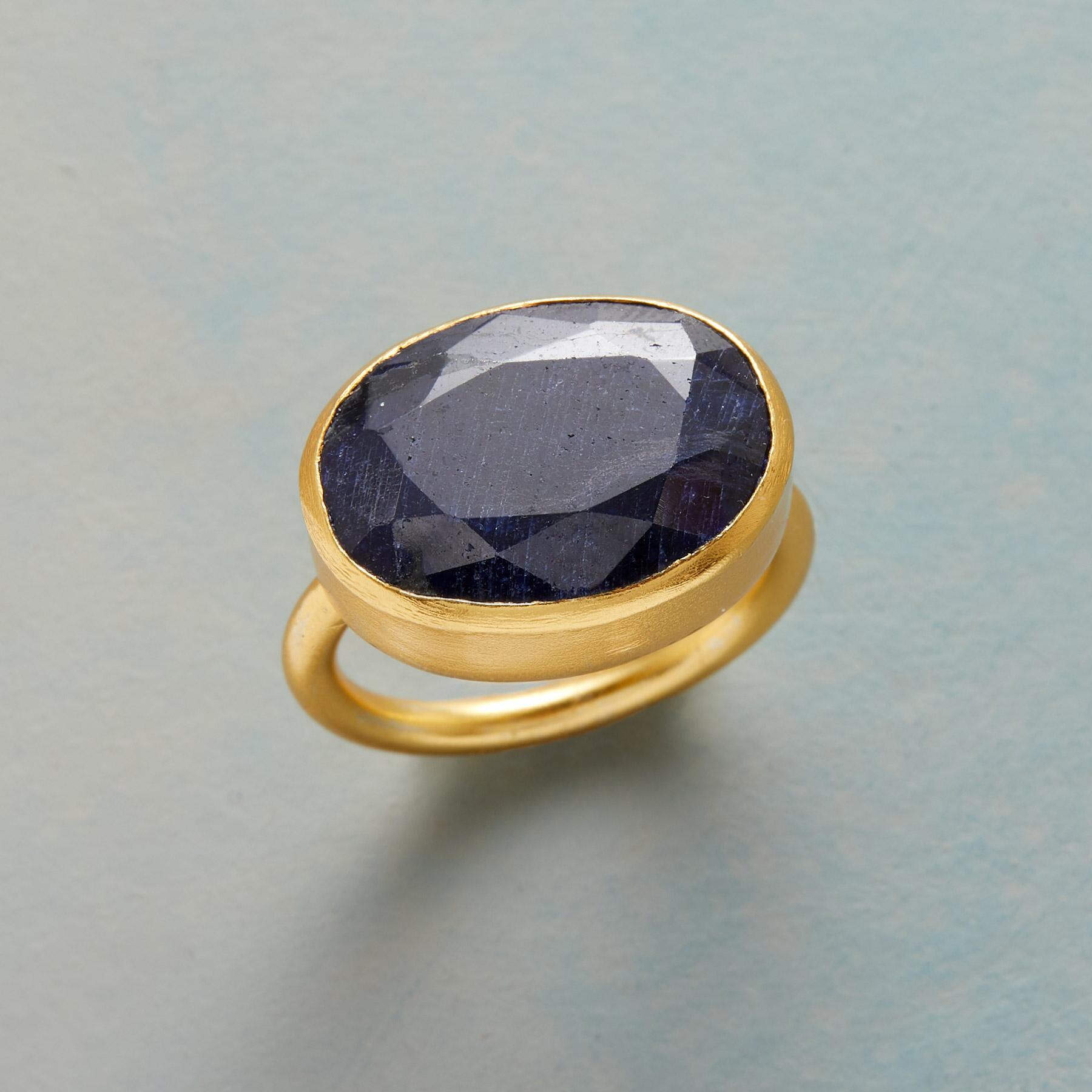 LIVE DEEPLY SAPPHIRE RING: View 1