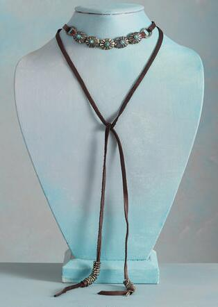 ROSETTE LARIAT NECKLACE