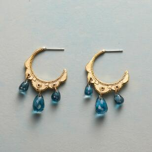 TOPAZ TIARA HOOP EARRINGS