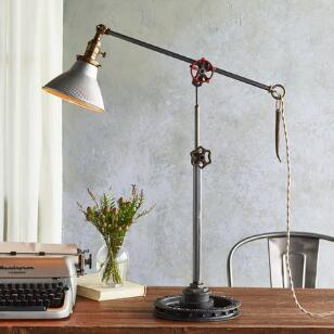SILVER TIP TABLE LAMP