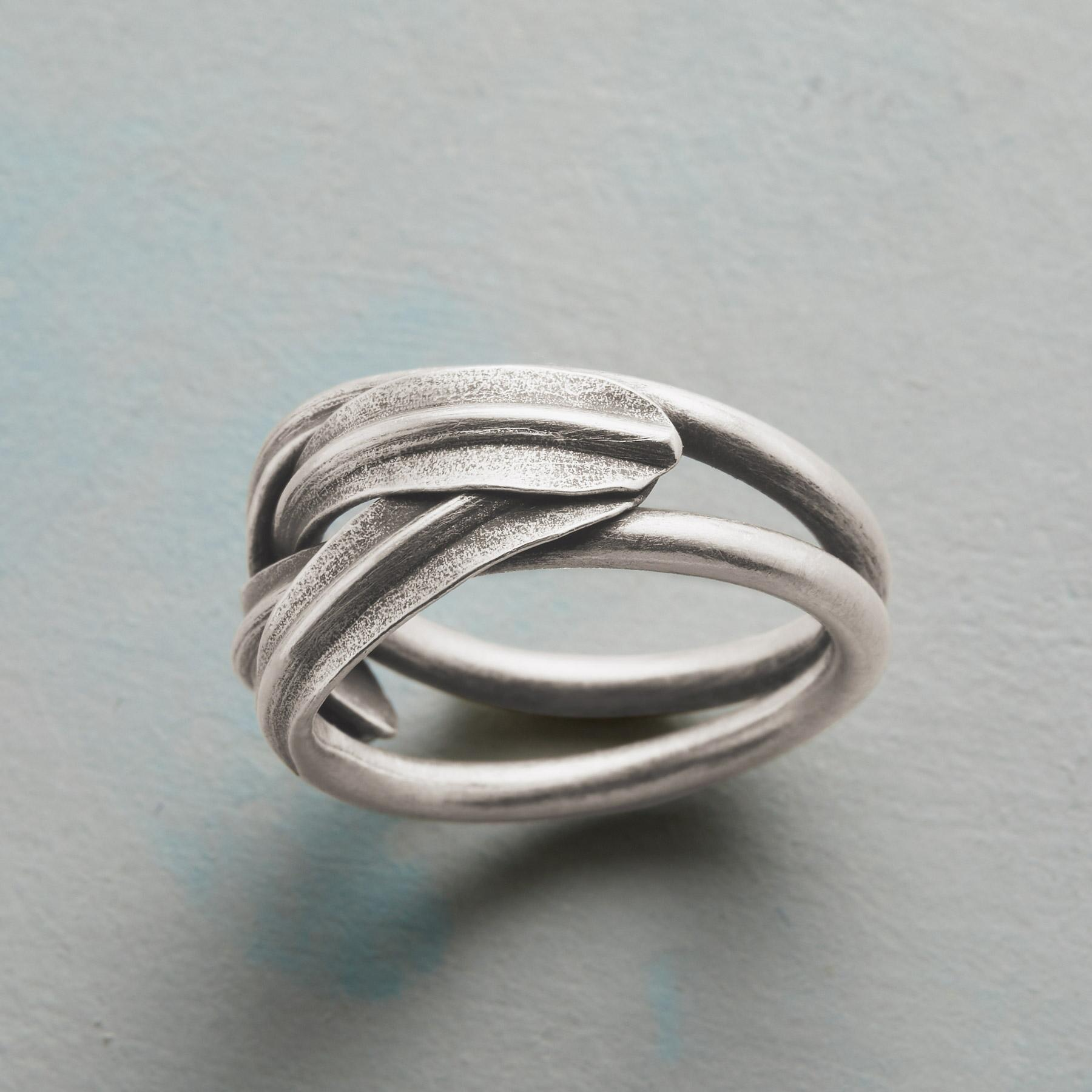 BRAIDED LEAVES RING: View 2