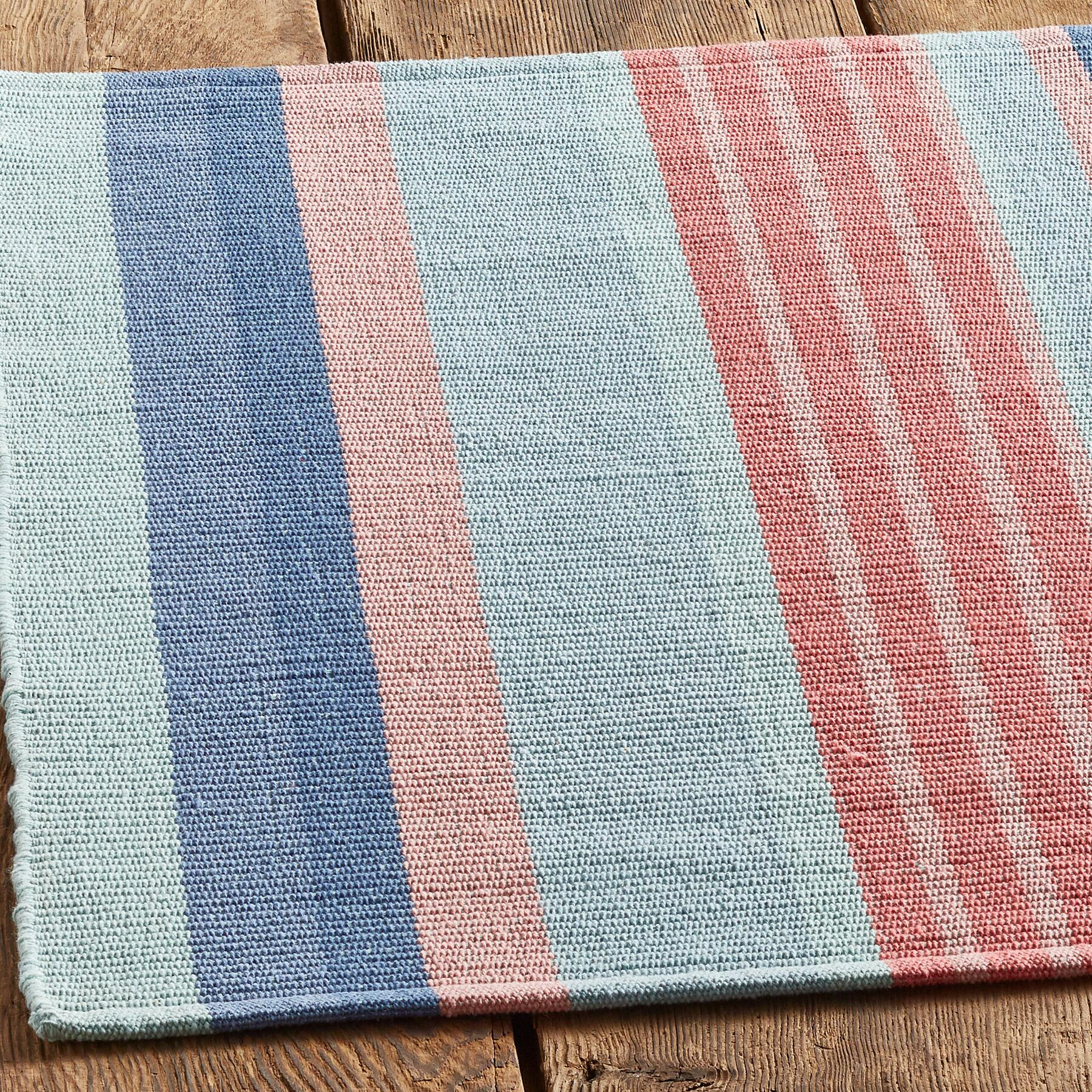 SEASIDE STRIPE RUG, LARGE: View 2