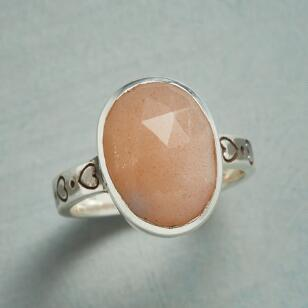 MOONSTONE KISSES RING