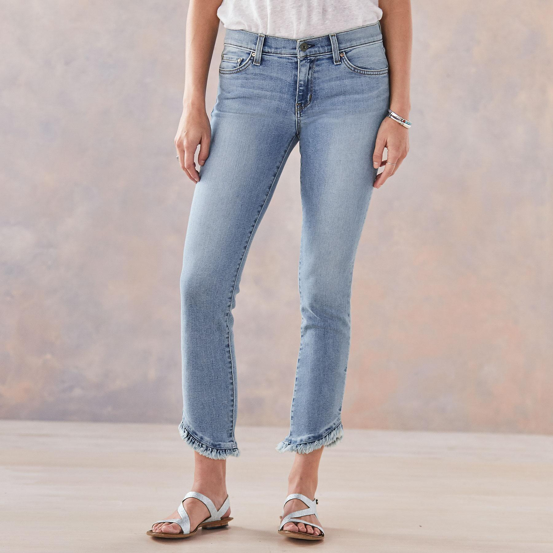 HONOR RUFFLED JEANS: View 1