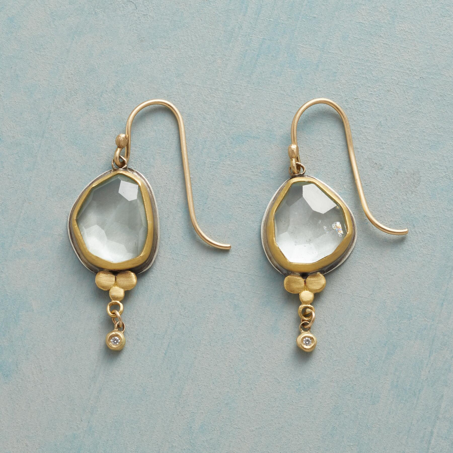 FROSTY AQUAMARINE EARRINGS: View 1