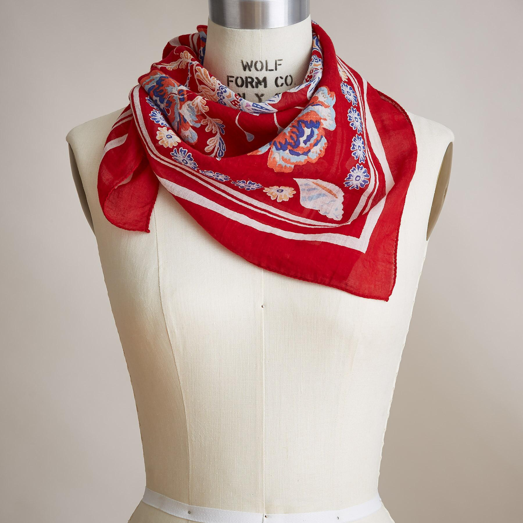 APPLE BLOSSOM BANDANA SCARF: View 1