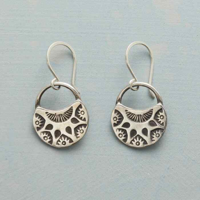HALF MOON BLOOMS EARRINGS