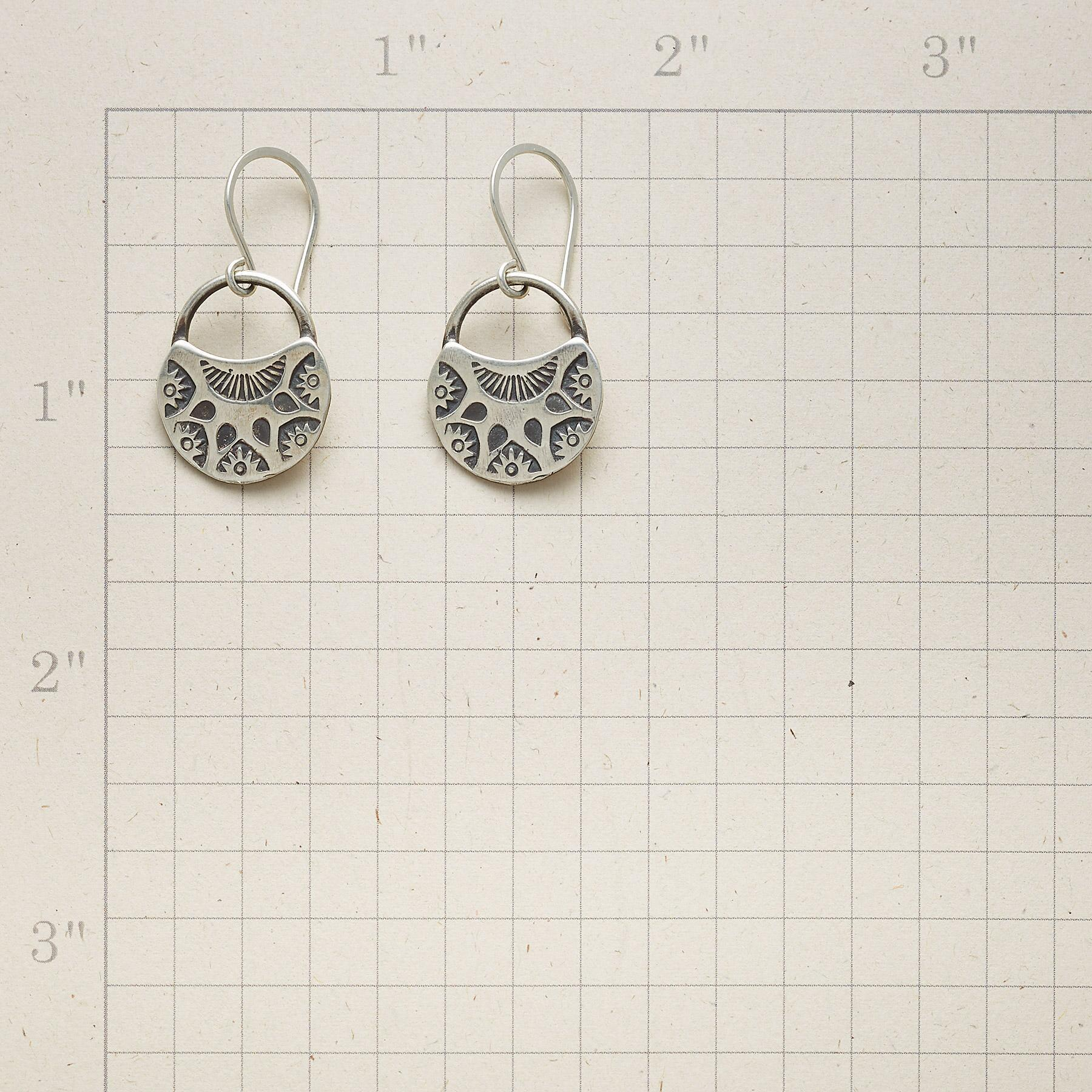 HALF MOON BLOOMS EARRINGS: View 2
