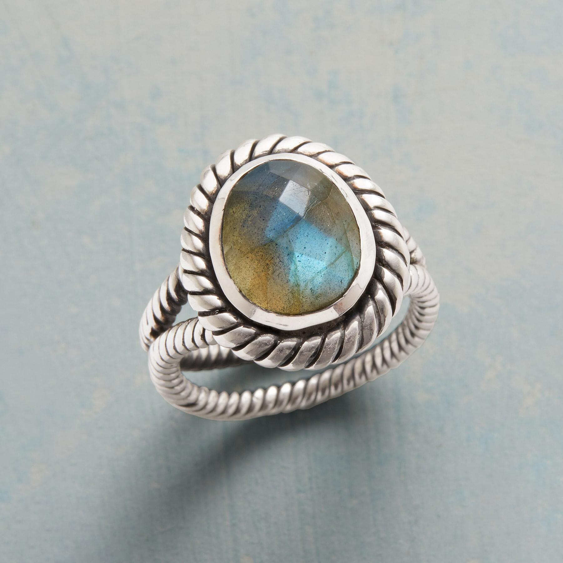 ENRAPTURED LABRADORITE RING: View 1