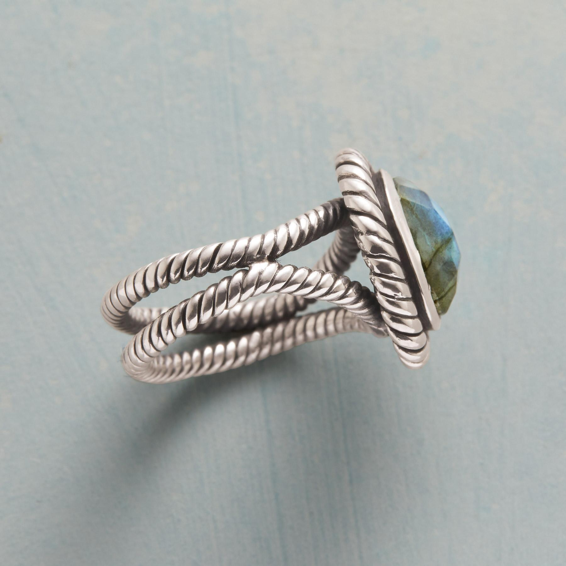 ENRAPTURED LABRADORITE RING: View 2