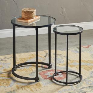IRON COUNTY NESTING TABLES, SET OF 2